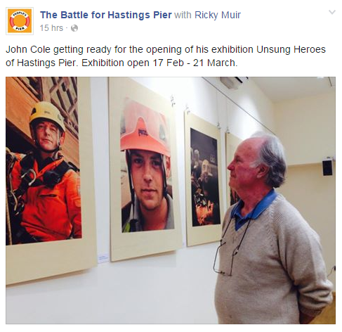 John Cole exhibition, Hastings Pier February 2015